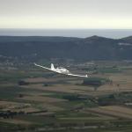 Le WT9 en vol au-dessus du sud de l'Espagne